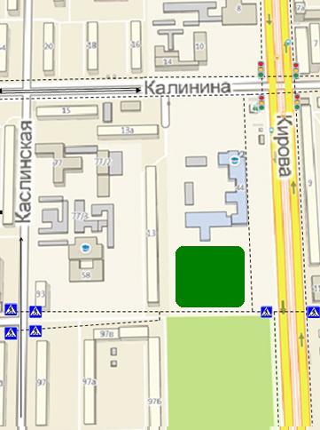 Челябинска. План-схема района